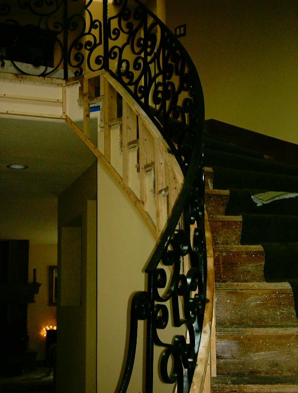 Curved wrought iron balluster- staircase